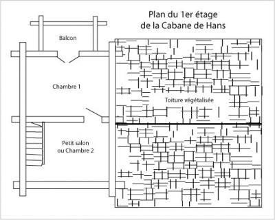 Plan chalet 1er etage